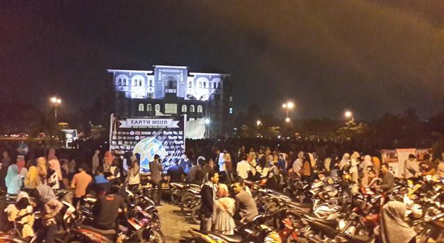 Earth Hour di UIN Suska Riau