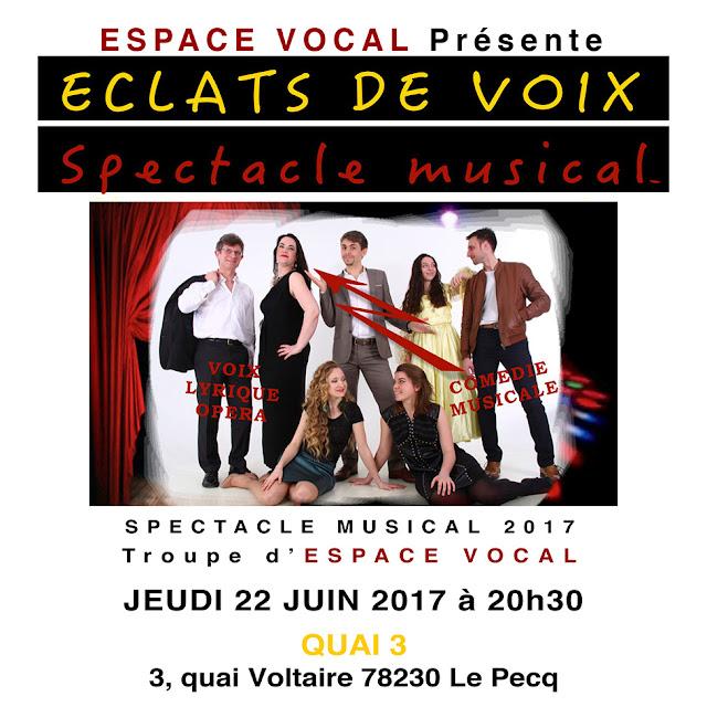 Spectacle musical des elèves de l'école Espace vocal à Chatou