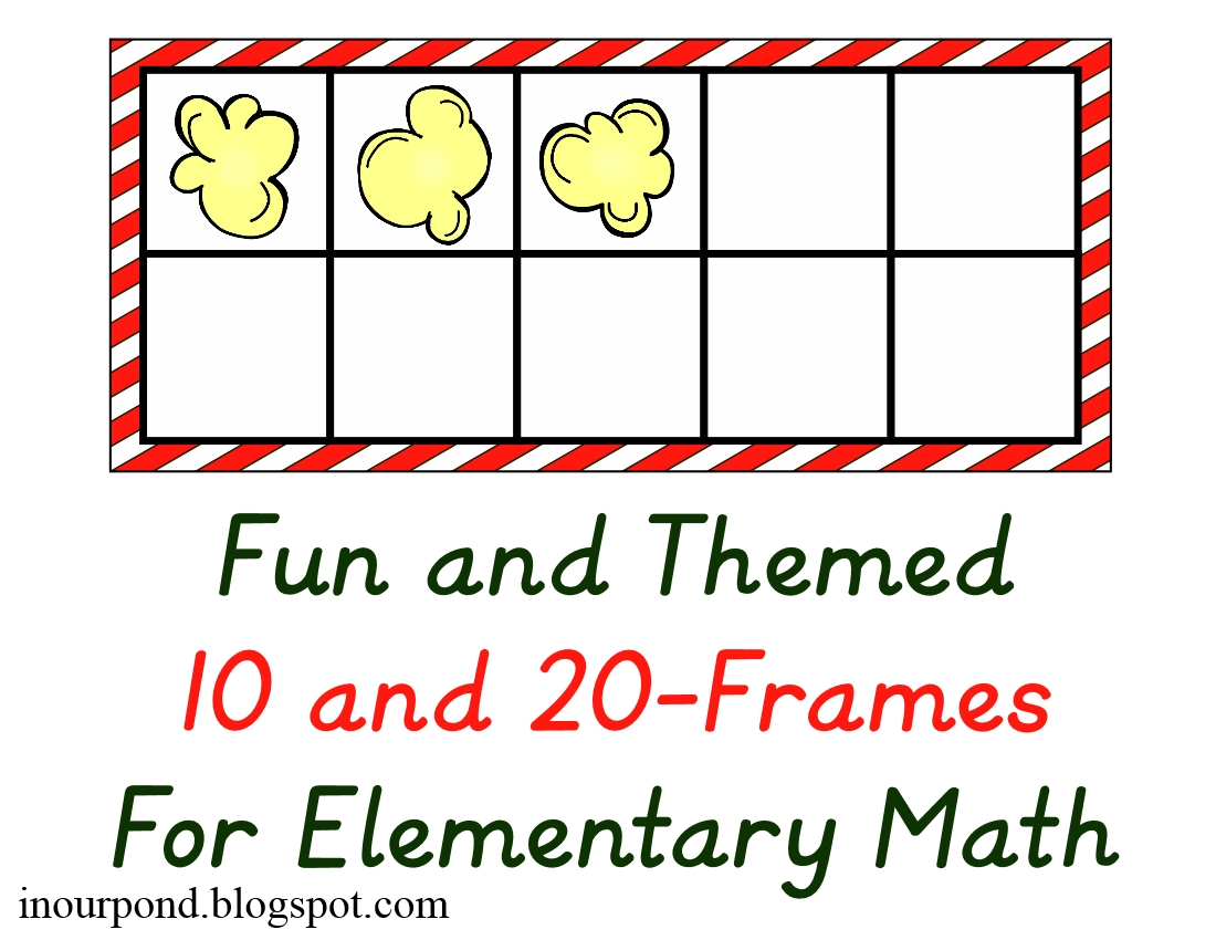 Fun Themed 20-Frames (math) - In Our Pond