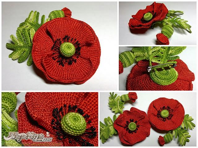 Curso Crochet  Broche Tulipan