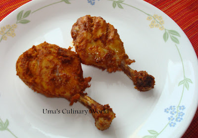 baked tanduri chicken or murgi