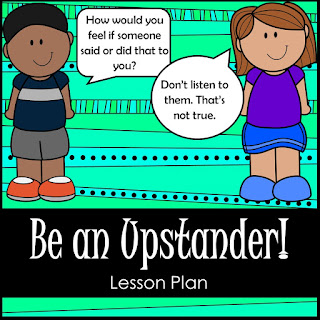 Be an upstander lesson plan sold on Teachers pay teachers. Includes Upstander statement cars, exit tickets, upstander scenario cards and active ways to use them all.