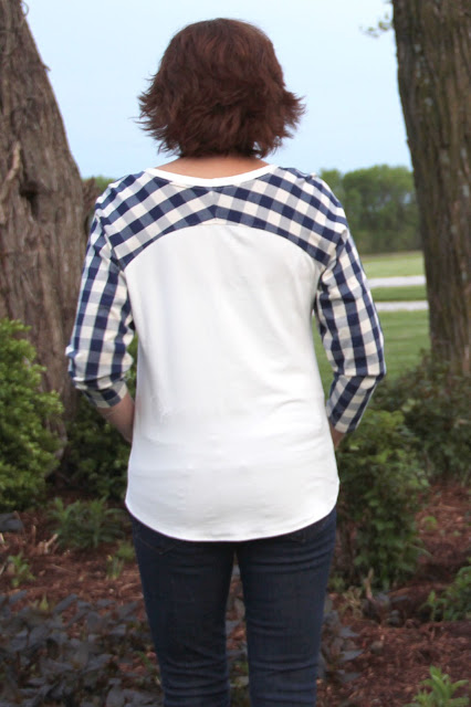 Indiesew Bethioua raglan shirt made from Girl Charlee knits