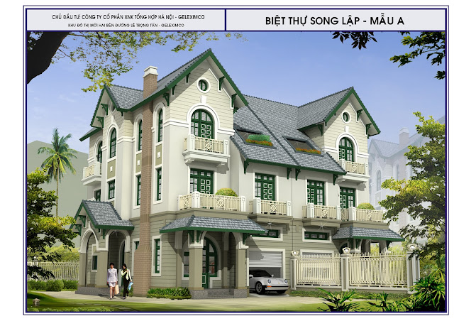 Mẫu biệt thự song lập - The Green Manor