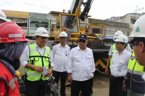 Basuki Hadimuljono Pembangunan Fly Over Simpang Surabaya di Kota Banda Aceh Selesai November