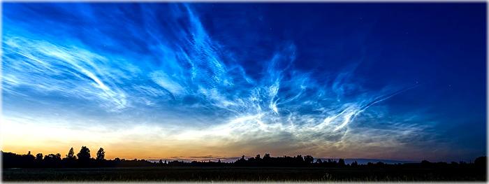 misterio na mesosfera - nuvens noctilucentes fora de época