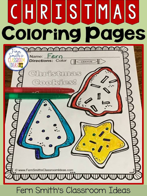 Fern Smith's Classroom Ideas Christmas Coloring Pages. Add some joy and fun to your classroom this holiday season!