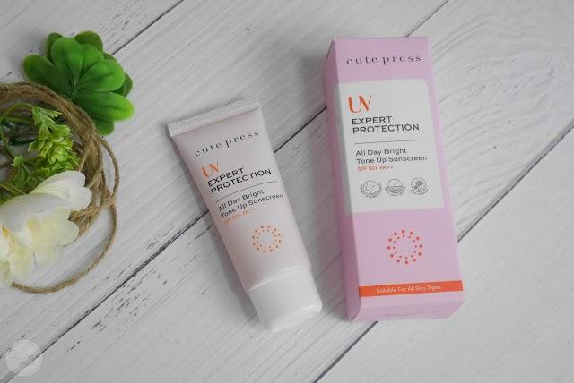 :: กันแดดถูกและดี  Cute Press UV EXPERT PROTECTION All Day Bright Tone Up Sunscreen ::