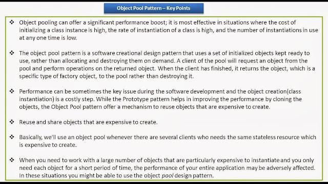 Java ee object pool design pattern keypoints for Object pool design pattern java