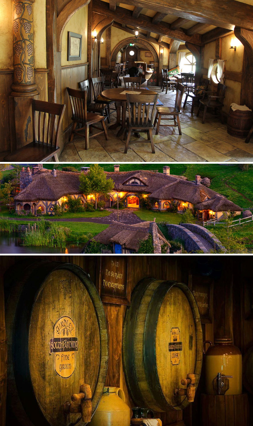 35 Of The World's Most Amazing Restaurants To Eat In Before You Die - 'A Place To Drink, A Place To Meet, A Place To Rest Your Hairy Feet.' The Green Dragon Pub In Hobbiton (New Zealand) Is A Perfect Place For A Real LOTR Fan