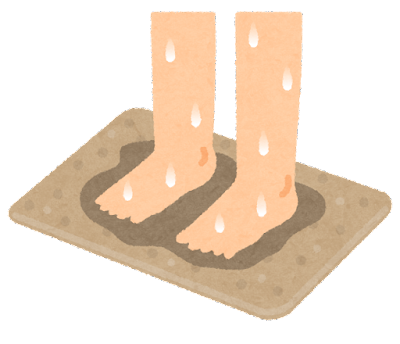 珪藻土バスマットのイラスト