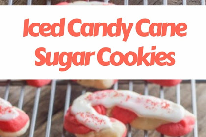 Iced Candy Cane Sugar Cookies #christmas #cookies
