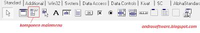 gambar toolbar komponen menu delphi 7
