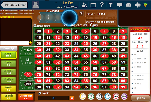 Cách đánh lô đề Onlien trên WIN2888