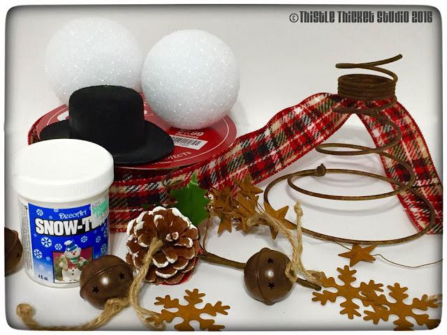 Thistle Thicket Studio, bedspring snowmen, bedsprings, DIY, snowmen, Christmas decor