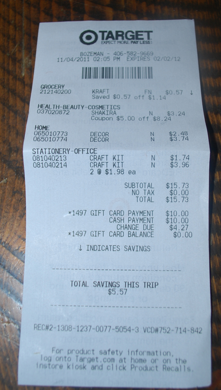 Coupon For Oil Change >> The Thrifty Deafies: Keri's Shopping Trip 11/4: SAVED $470.94 SPENT $53.64