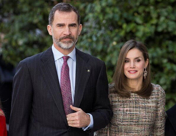 King Felipe and Queen Letizia, Hungarian President Janos Ader and his wife Anita Herczegh visited Thyssen-Bornemisza Museum. Magrit Pumps