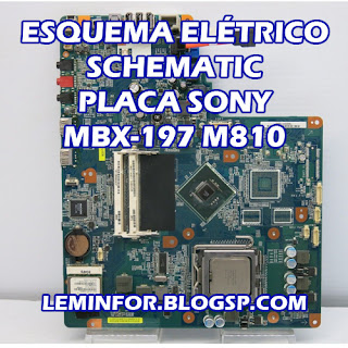Esquema Elétrico Placa Sony MBX-197 M810 Schematic Notebook Placa Sony MBX-197 M810 Manual de servicio Notebook Placa Sony MBX-197 M810