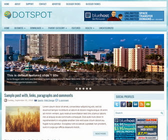 Dotspot Blogger Template