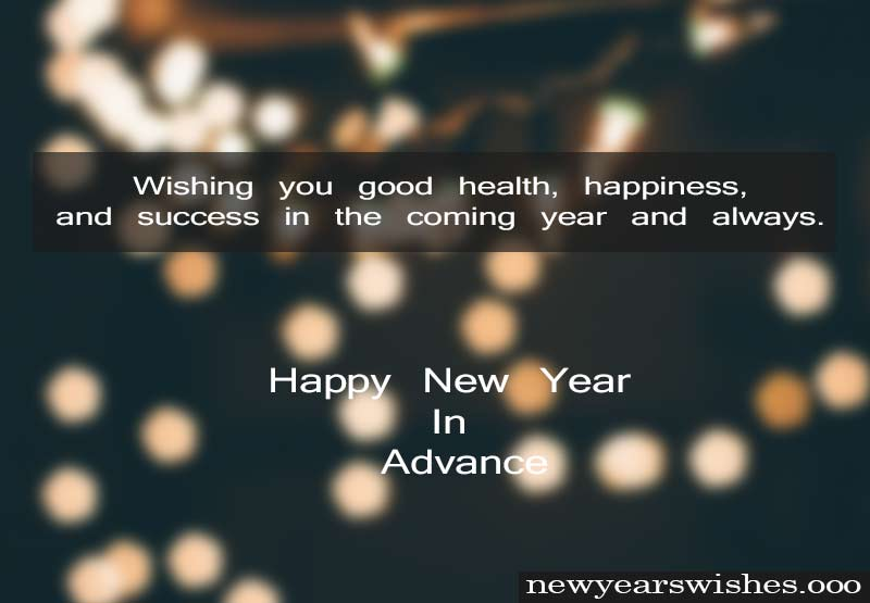happy new year advance wishes images 2019