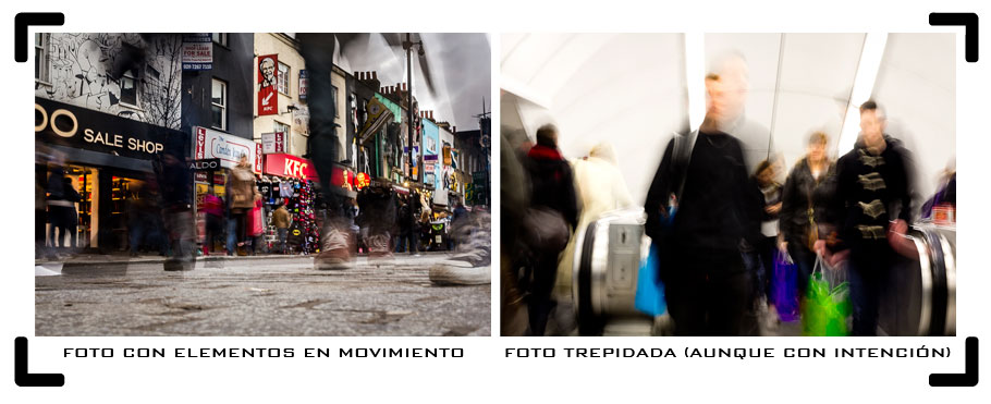 Foto en movimiento vs trepidada