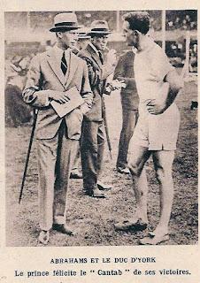 Le coureur Harold Abrahams et le duc d'York