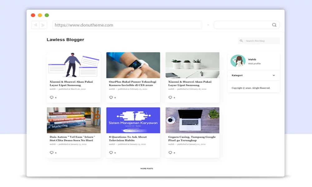 Lawless Responsive Blogger Template
