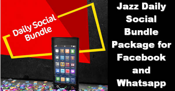 Jazz Daily Social Bundle Internet Package for Rs. 5/- Only