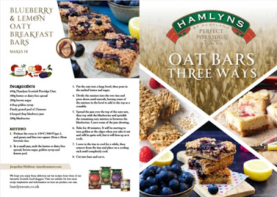 Hamlyn's oat bars recipe leaflet