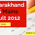 Uttarakhand PCS mains result 2012