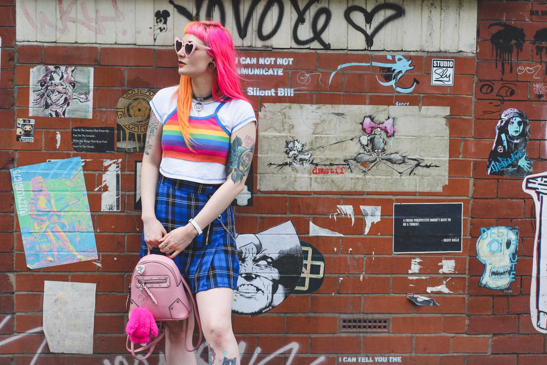 Alternative Fashion Blogger Foxxtailz Styles The Ragged Priest Skirt