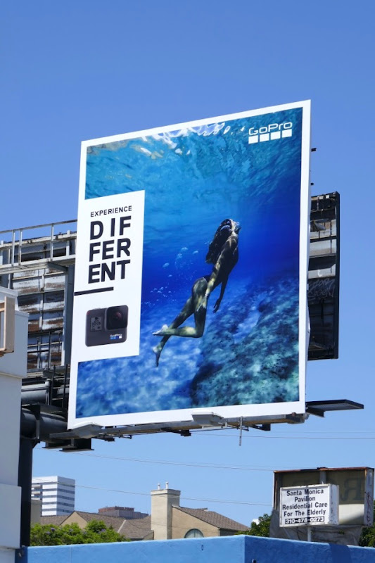 GoPro Experience Different swimmer billboard