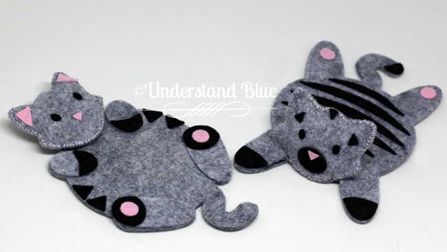 Felt Cat Coasters by Understand Blue