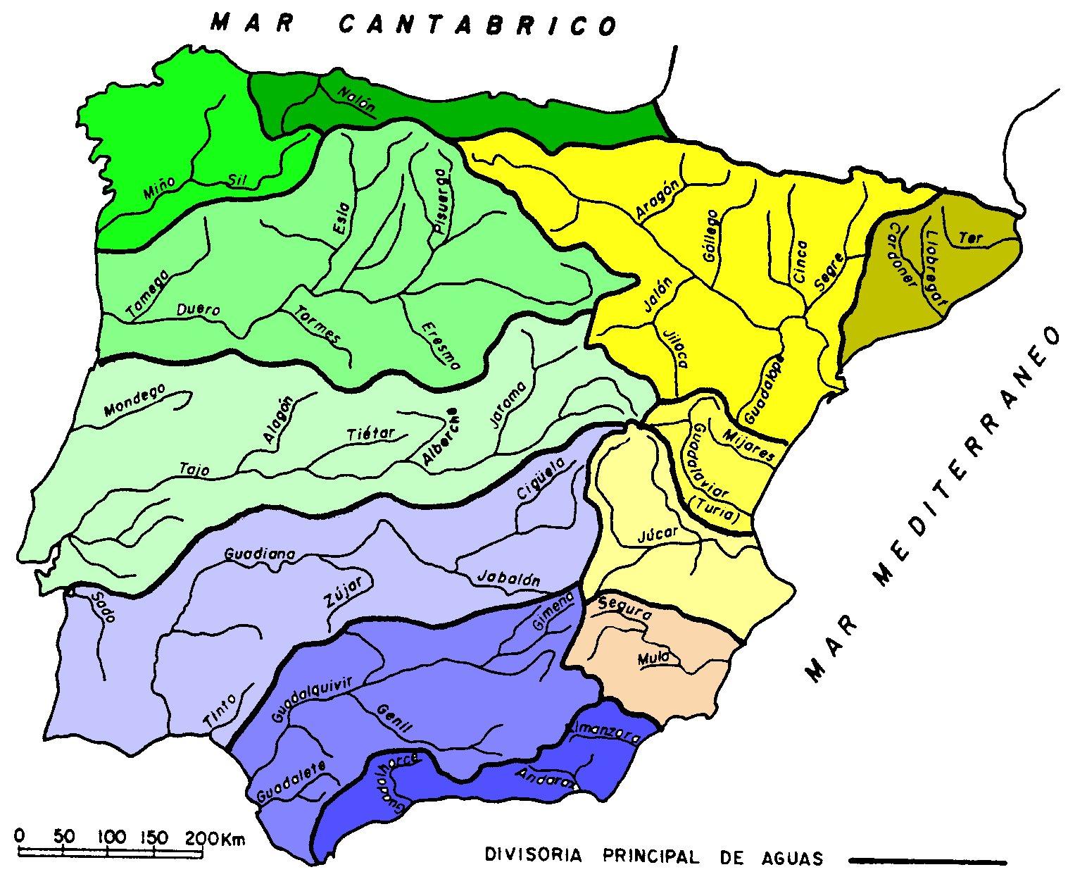 Rios España Mapa Fisico.Mas De 100 Imagenes Y Mapas De Rios De Espana