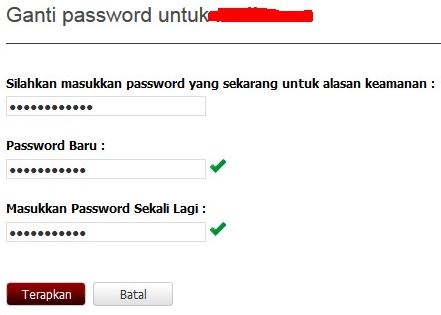 cara mengganti password PB garena