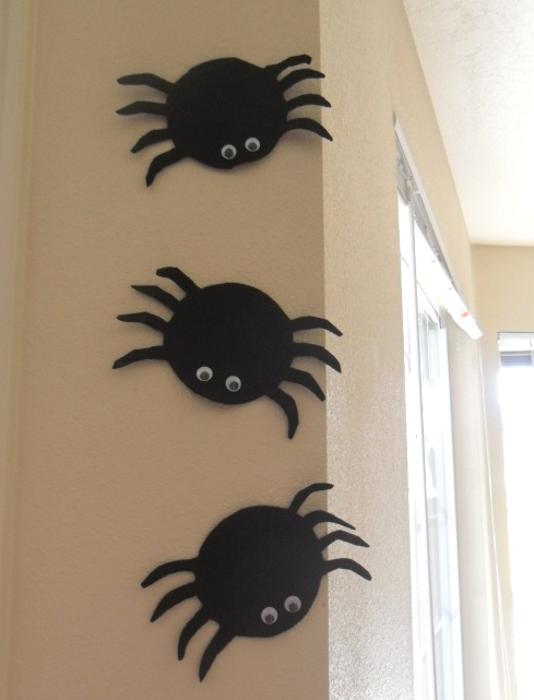 portrait fhoto felt ghost and spider templates