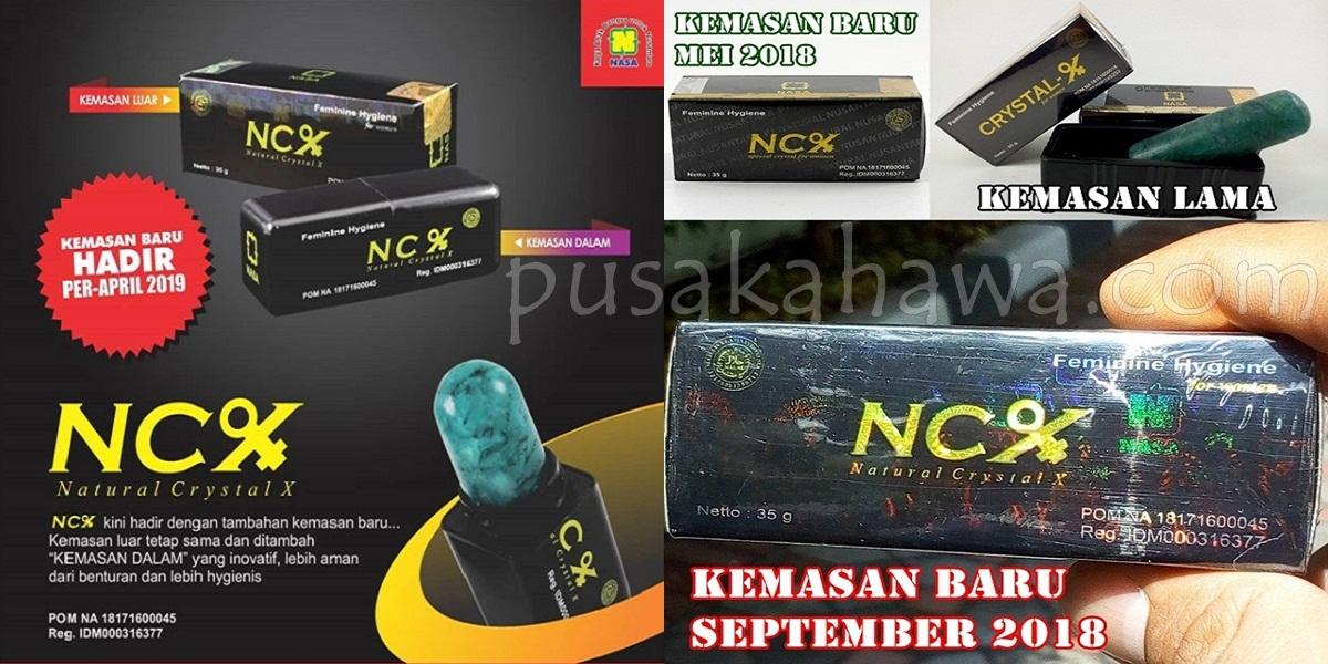 NCX NASA No BPOM NA 18171600045 Perubahan Merek Crystal X - obat keputihan alami dan cepat sembuh
