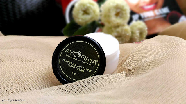 November 2015 Fab Bag Review, ayorma night cream