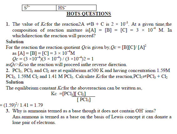 EQUILIBRIUM notes with HOT Questions