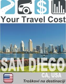 San Dijego, CA, SAD – Trošak