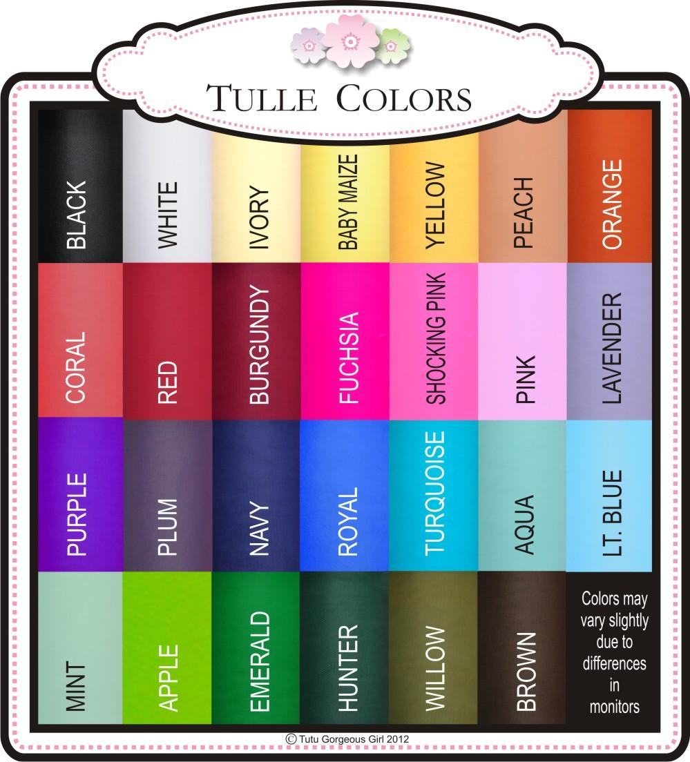 Tutu Gorgeous Girl: Tulle Colors