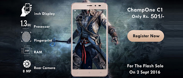 ChampOne S1 Smartphone Launched @ Rs 501