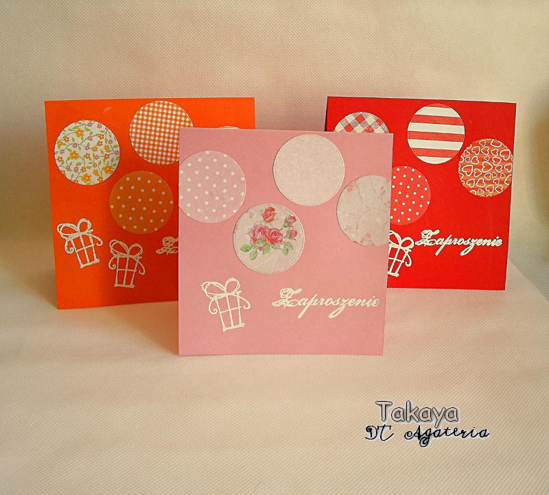 Takaya Craftuje środa Z Agaterią Zaproszenia Urodzinowe