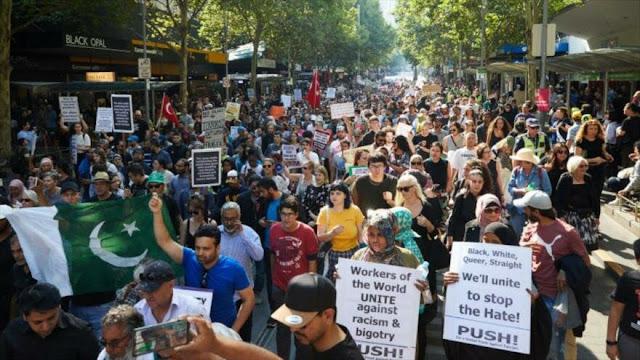 Miles de manifestantes en Australia repudian la islamofobia