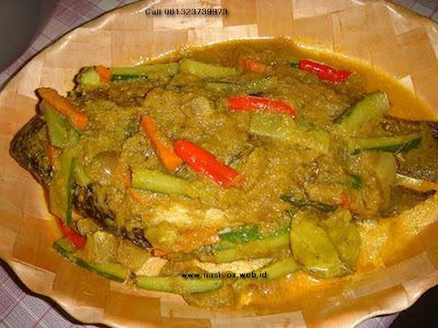 Resep bawal bumbu kuning nasi box patenggang ciwidey