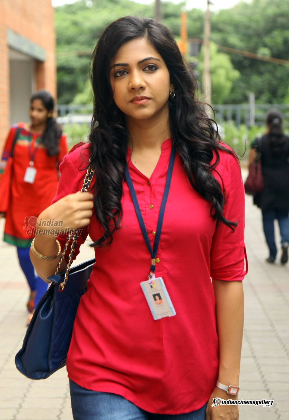 Madonna Sebastian sexy in red