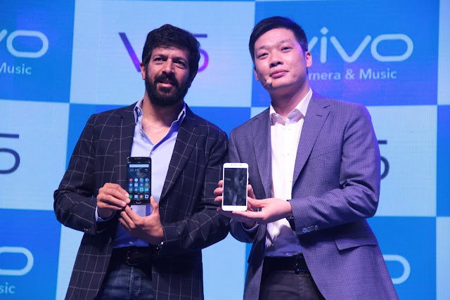 Mr. Kabir Khan Bollywood Director & Mr. Kent Cheng- CEO- Vivo India at the launch of Vivo V5