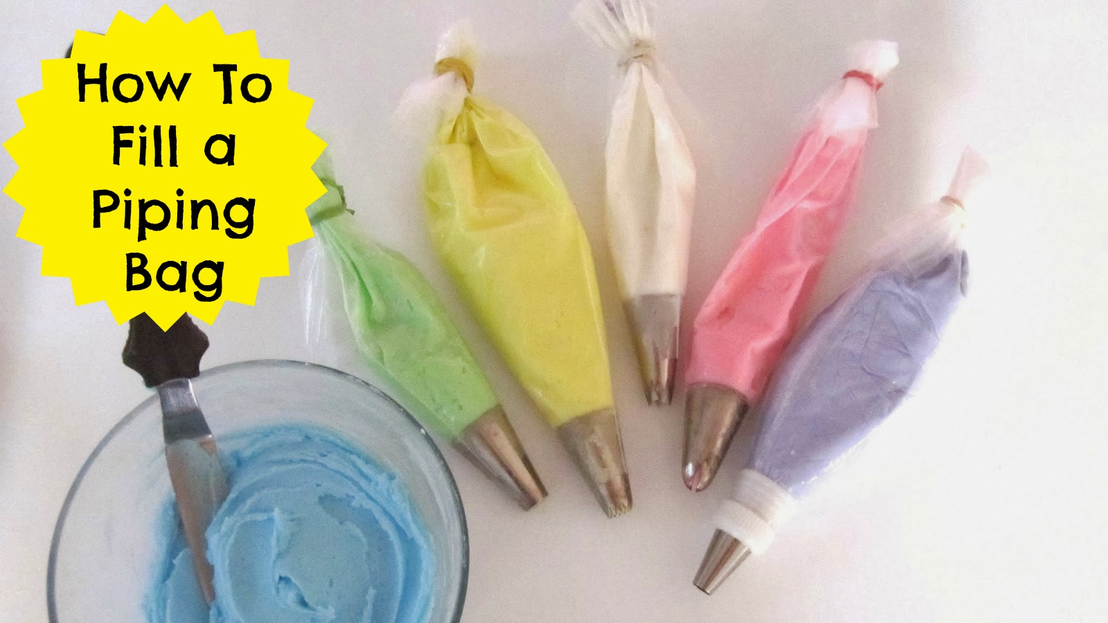 I Show You Some Quick Easy Tips Tricks For How To Fill Your Piping Bag With Frosting Fillings Or Decorators Icing Easily And Without The Mess