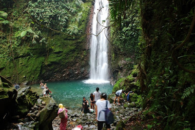 Curug Ngumpet in Indonesia
