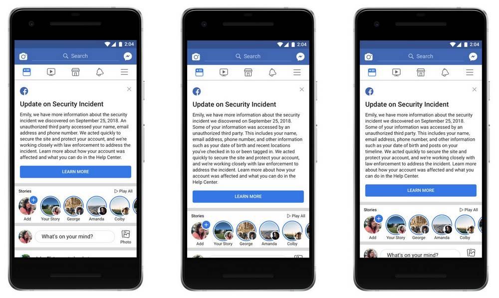 Pesan dari Facebook untuk mewaspadai serangan (androidcentral.com)